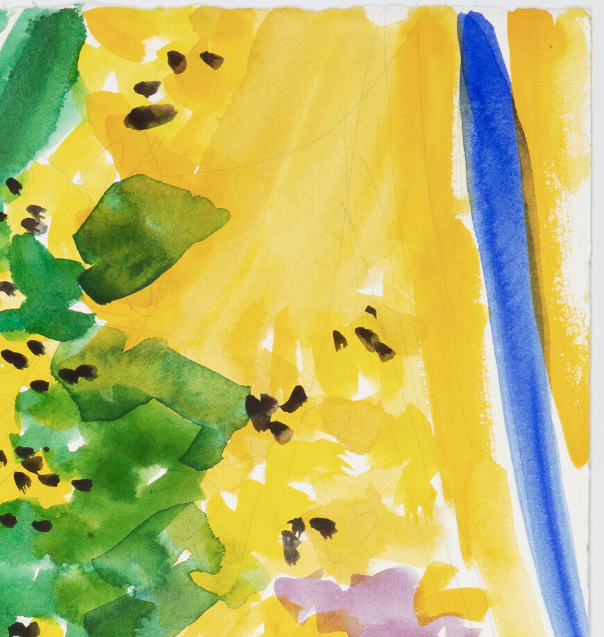 Stephanie Crawford 'Blue and Yellow Still Life 2' Detail 2